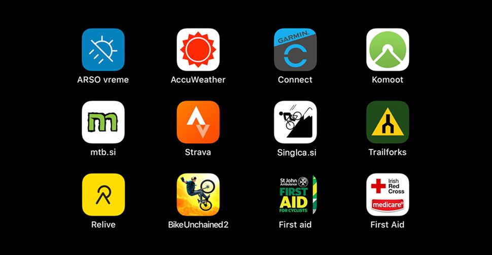 Koristne mobilne aplikacije za gorske kolesarje